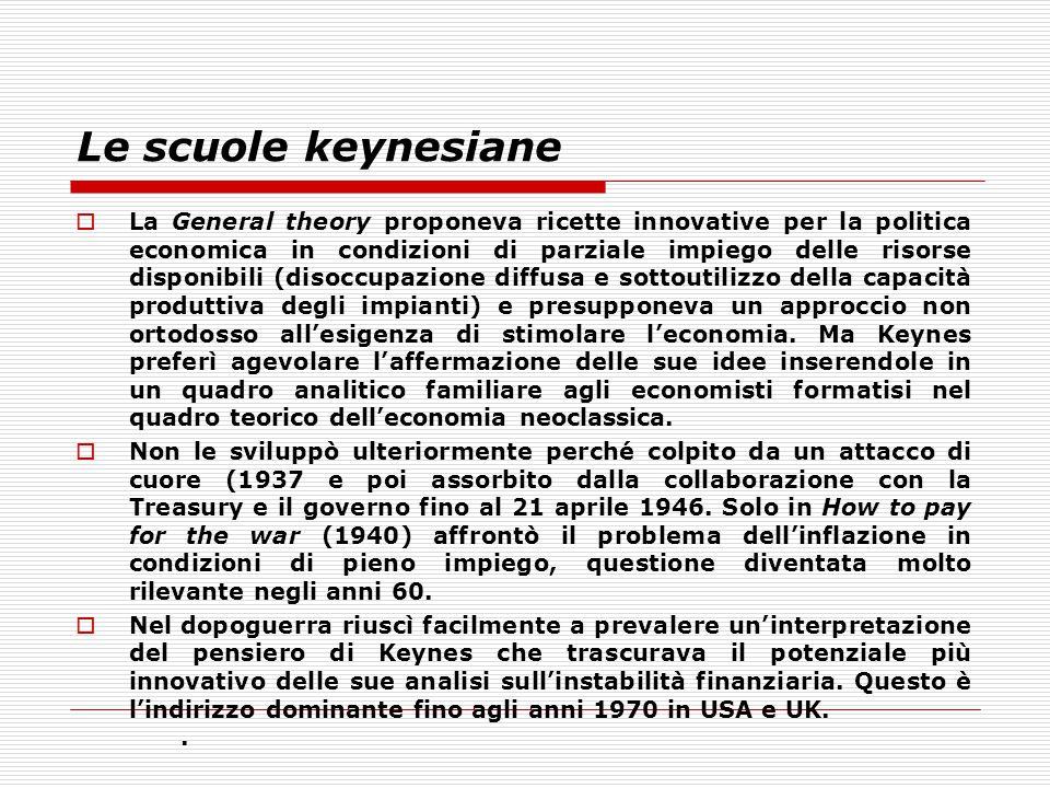 Le scuole keynesiane