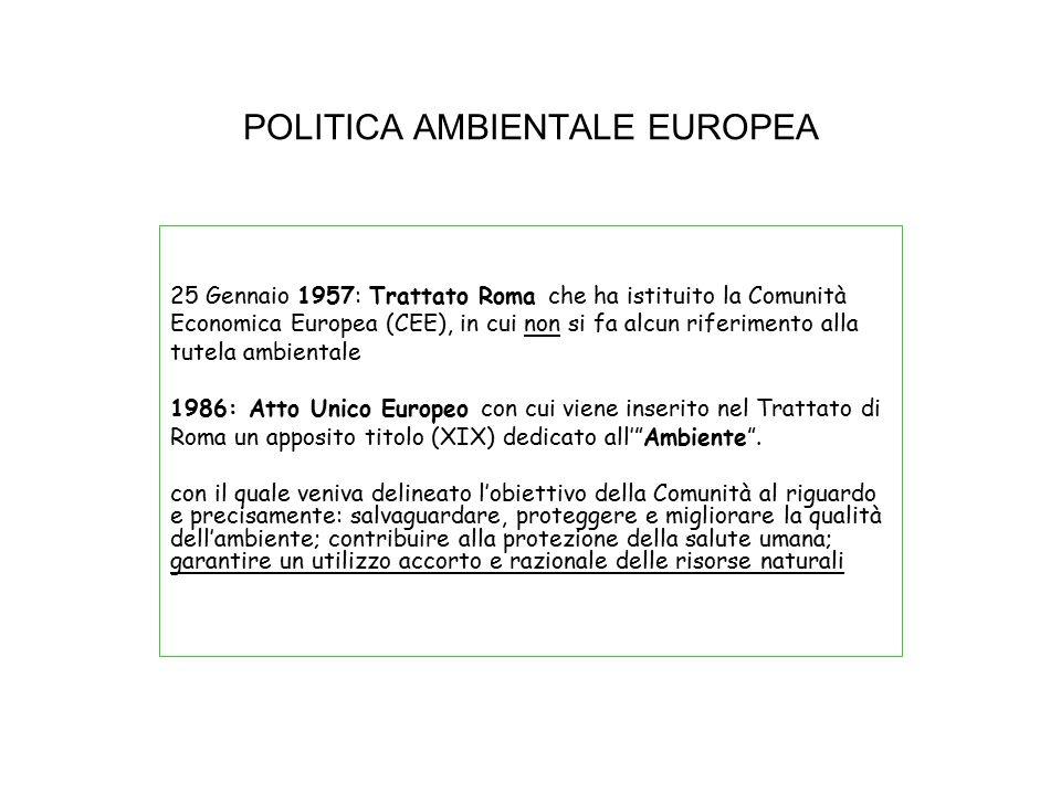POLITICA AMBIENTALE EUROPEA