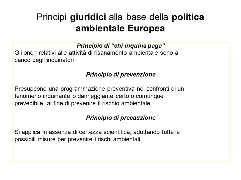 Principi giuridici alla base della politica ambientale Europea