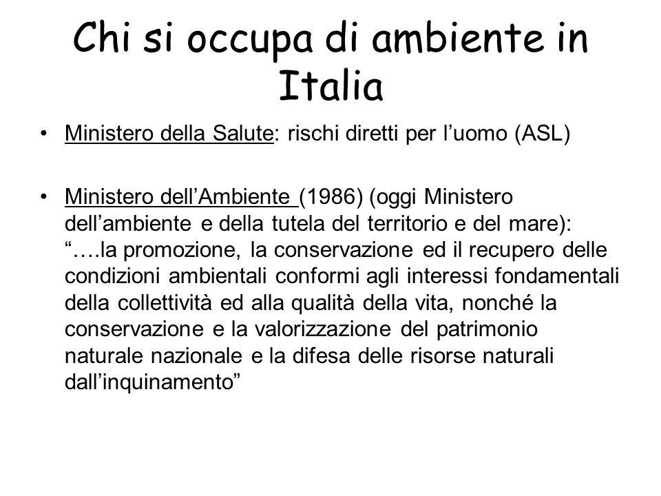 Chi si occupa di ambiente in Italia