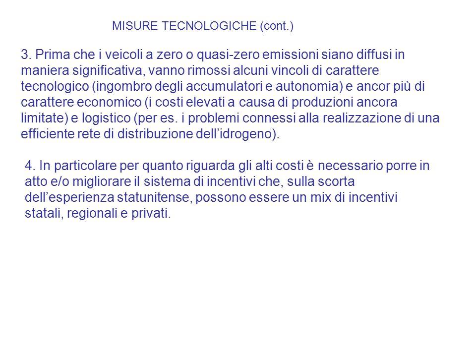 MISURE TECNOLOGICHE (cont.)
