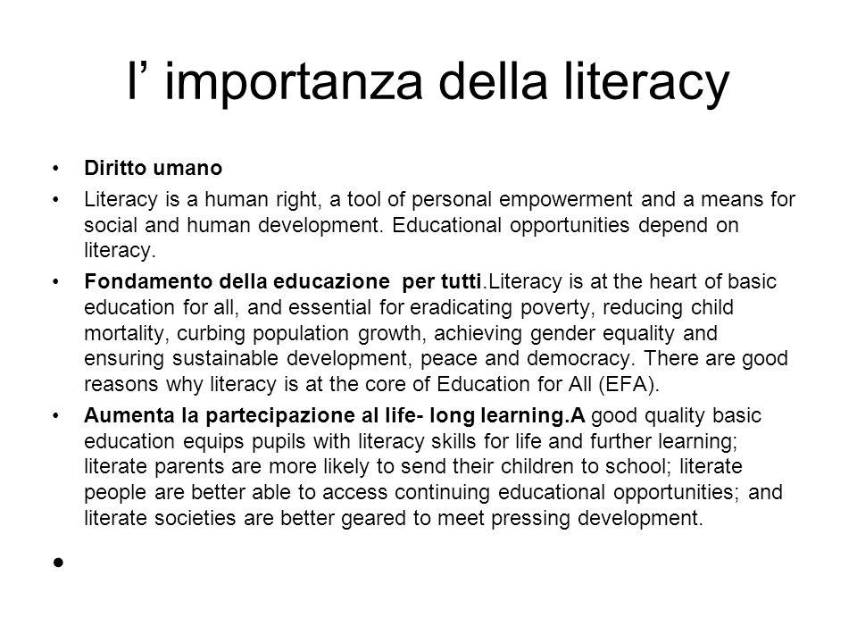 l' importanza della literacy
