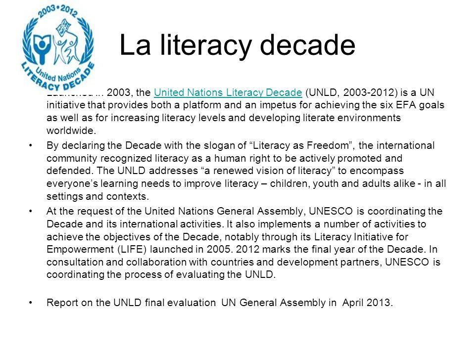La literacy decade