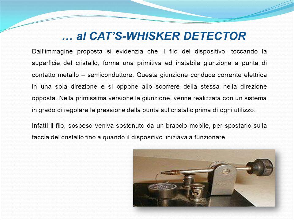 … al CAT'S-WHISKER DETECTOR