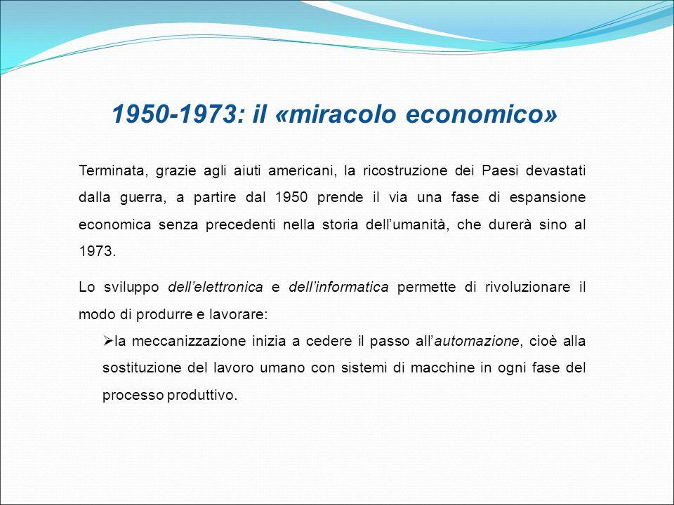 1950-1973: il «miracolo economico»