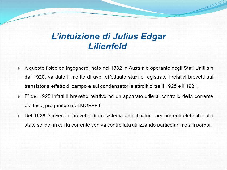 L'intuizione di Julius Edgar Lilienfeld