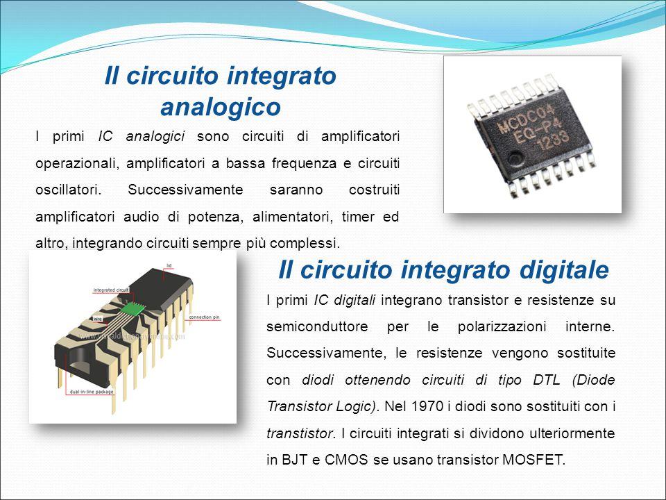 Il circuito integrato analogico Il circuito integrato digitale