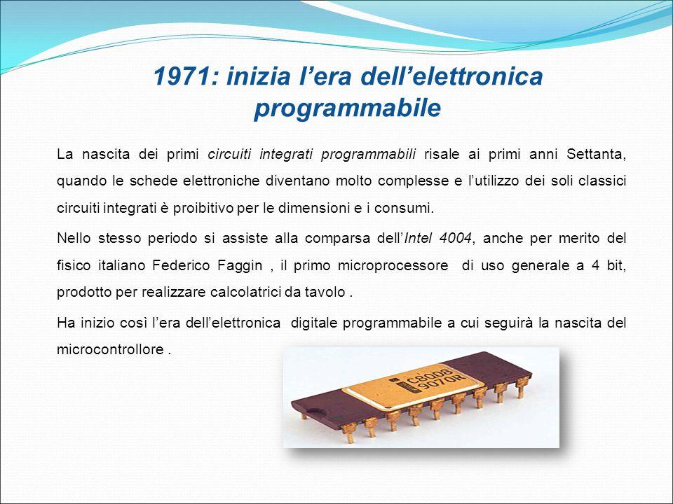 1971: inizia l'era dell'elettronica programmabile