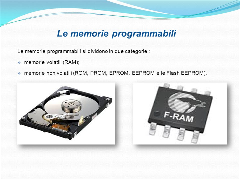 Le memorie programmabili