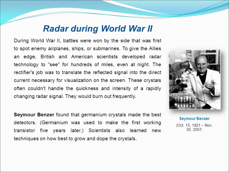 Radar during World War II
