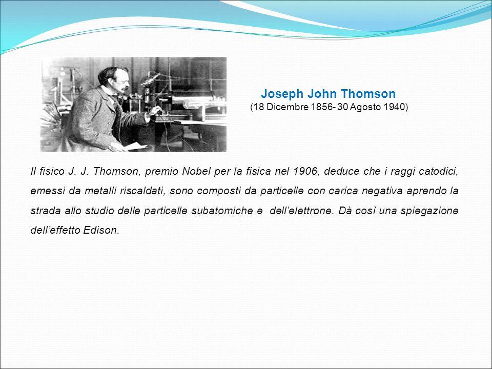 Joseph John Thomson (18 Dicembre 1856- 30 Agosto 1940)
