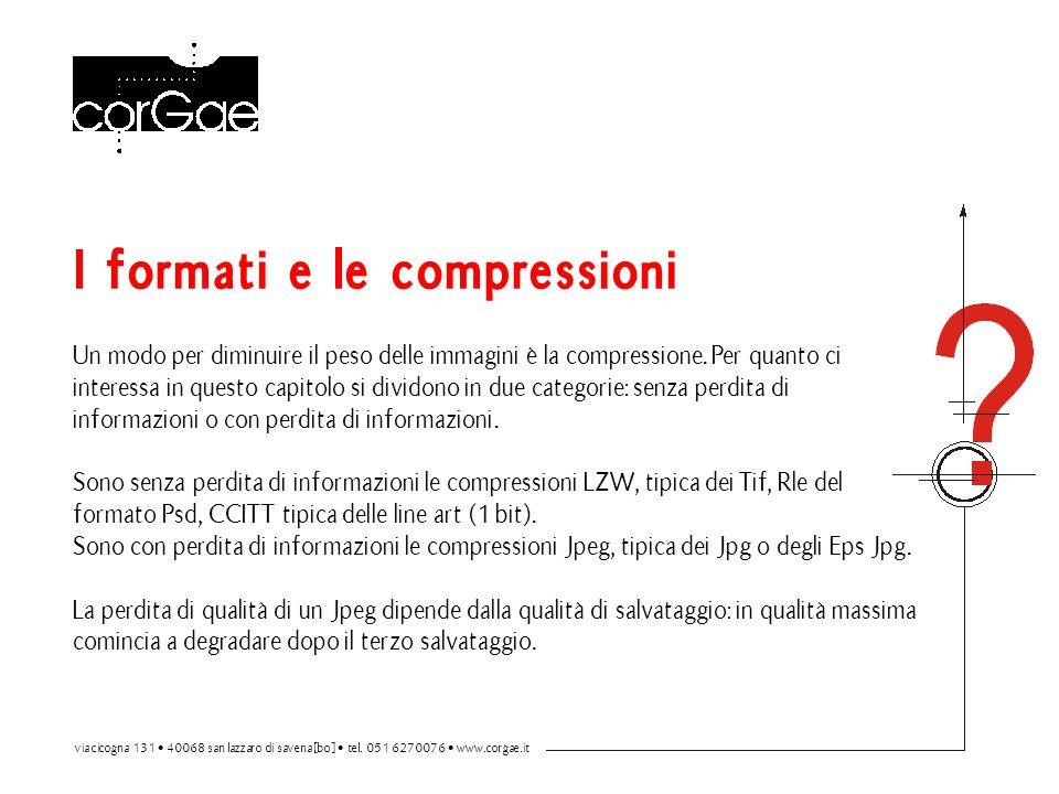 I formati e le compressioni