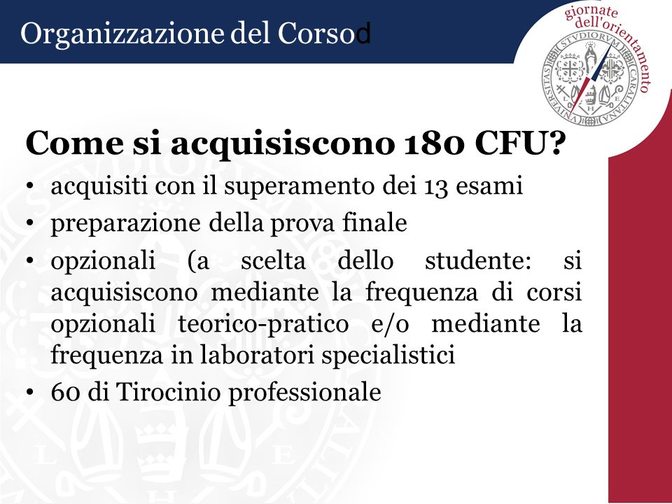Come si acquisiscono 180 CFU