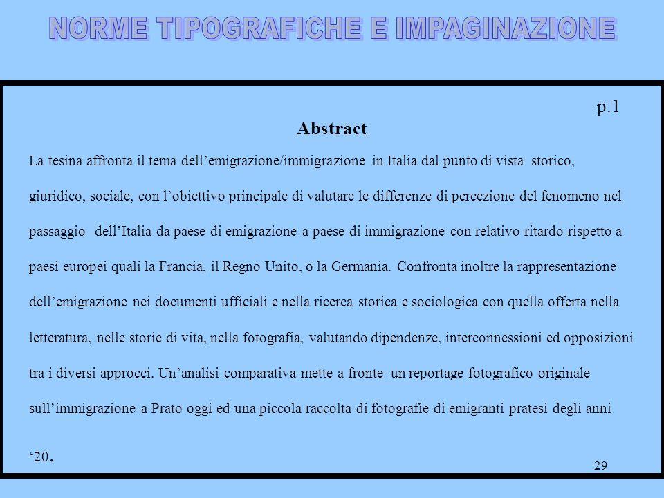 NORME TIPOGRAFICHE E IMPAGINAZIONE