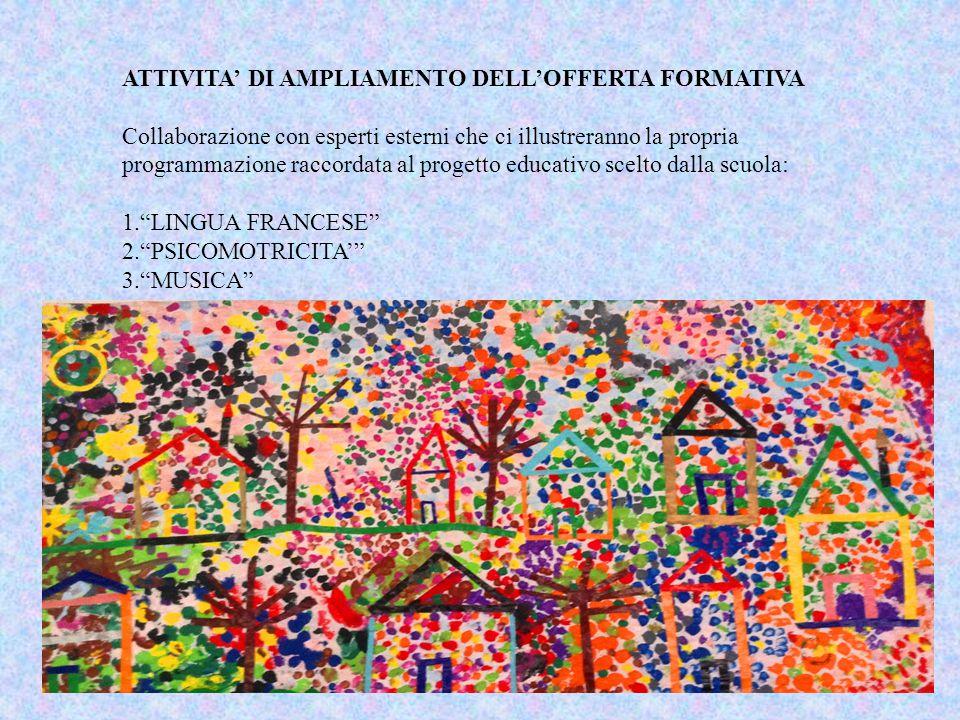 ATTIVITA' DI AMPLIAMENTO DELL'OFFERTA FORMATIVA