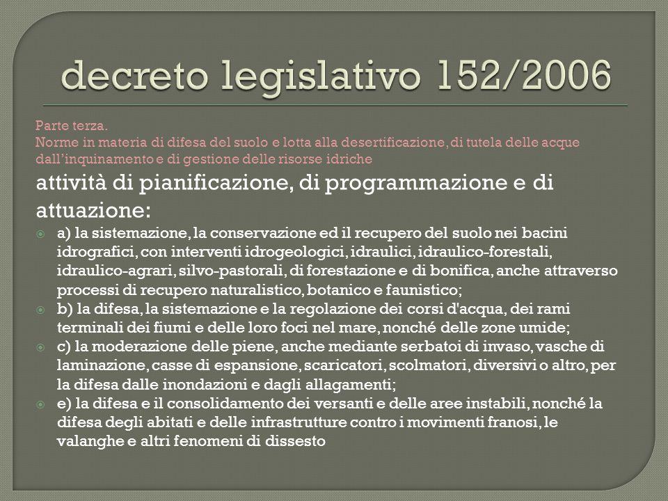 decreto legislativo 152/2006 Parte terza.