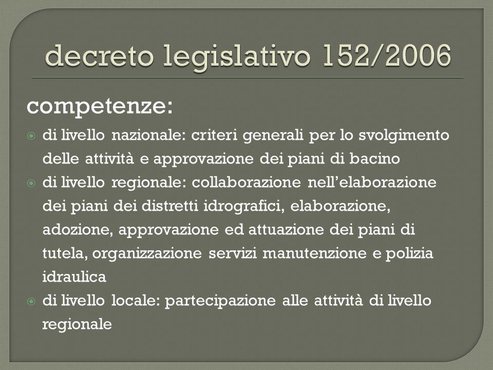 decreto legislativo 152/2006 competenze: