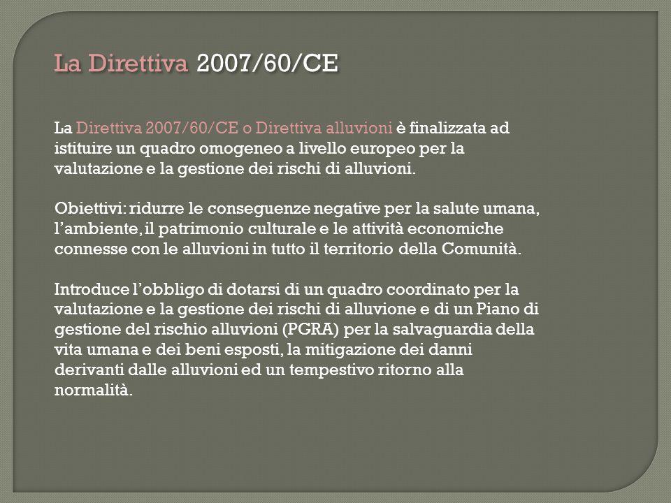 La Direttiva 2007/60/CE