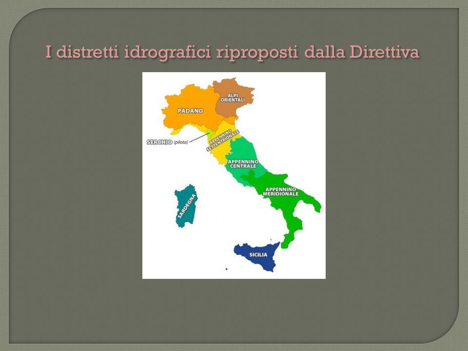 I distretti idrografici riproposti dalla Direttiva
