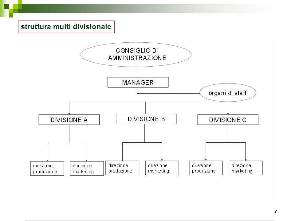 struttura multi divisionale