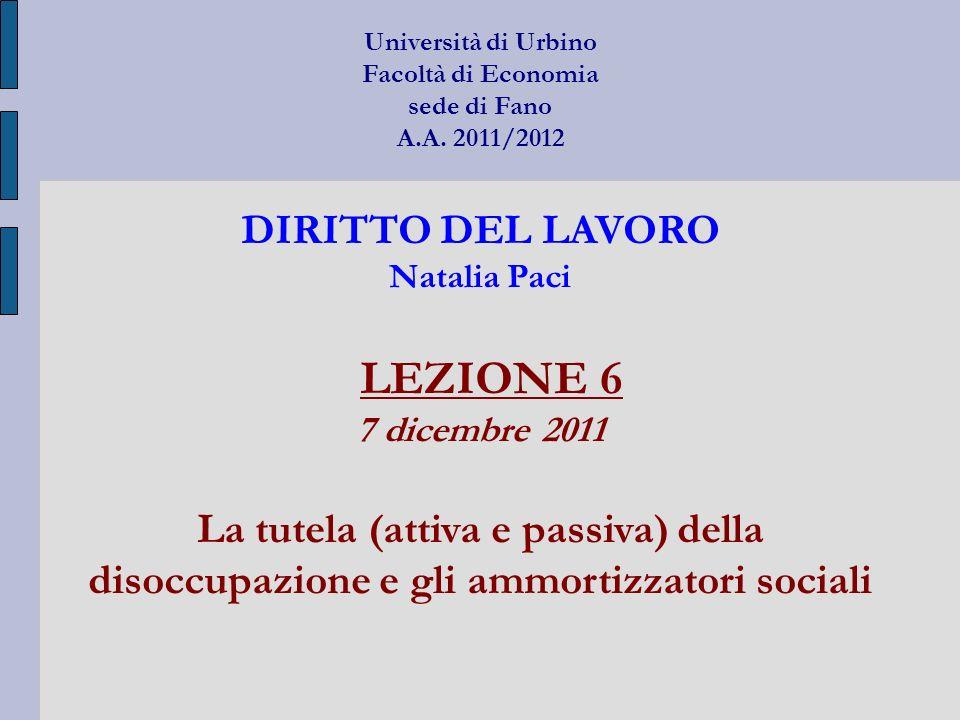 Università di Urbino Facoltà di Economia sede di Fano A. A