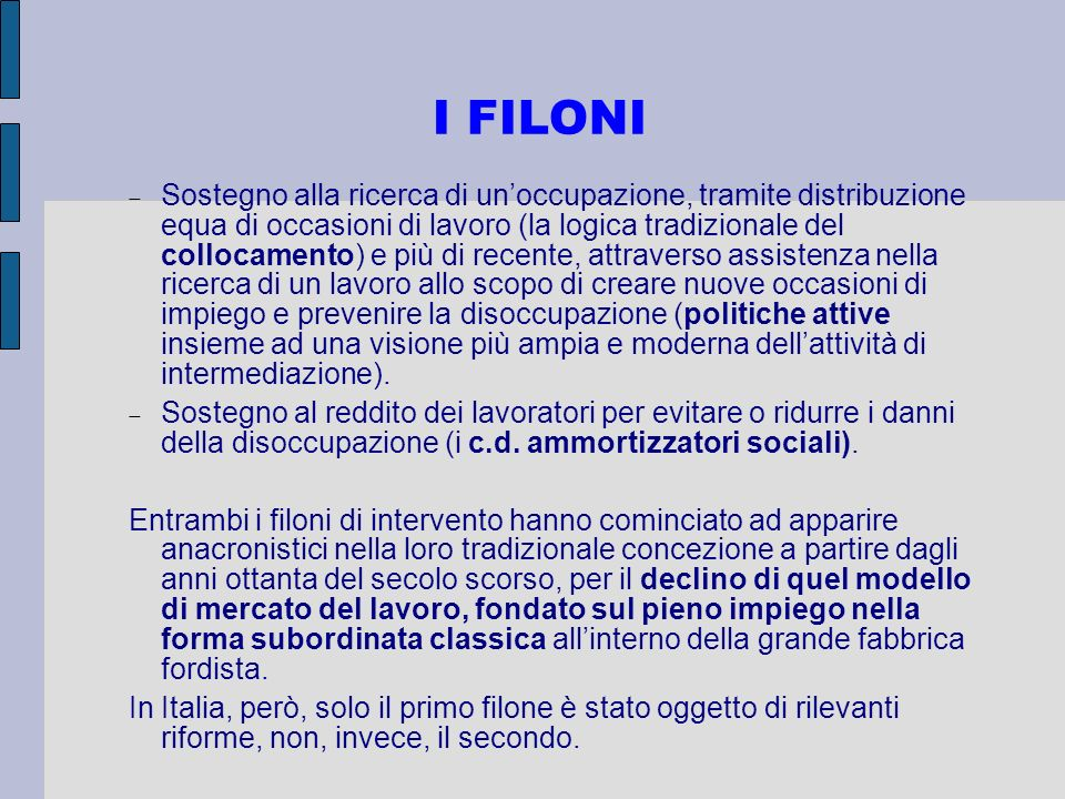 I FILONI