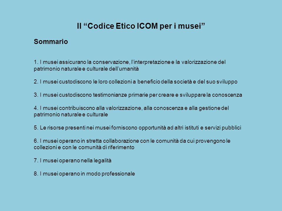 Il Codice Etico ICOM per i musei