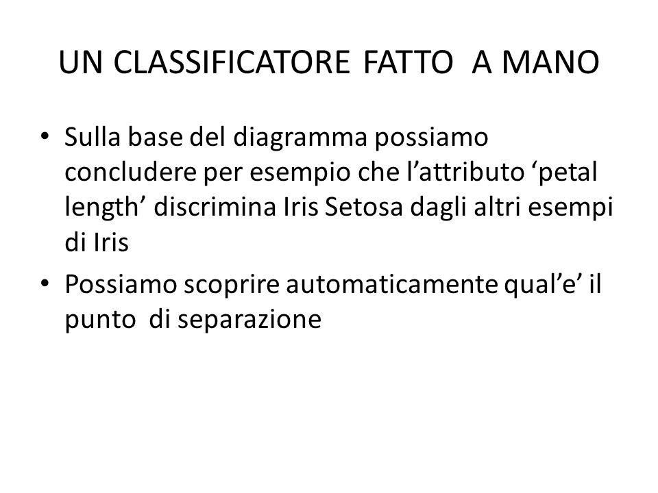UN CLASSIFICATORE FATTO A MANO