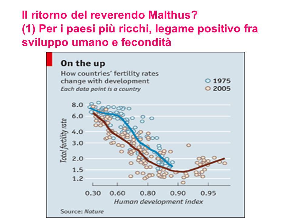 Il ritorno del reverendo Malthus