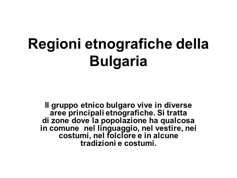 Regioni etnografiche della Bulgaria