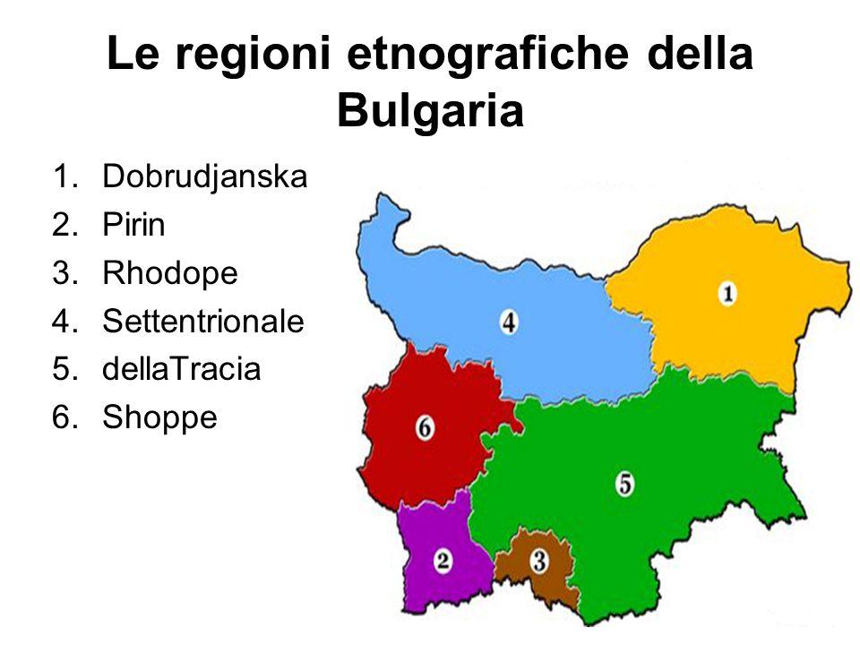 Le regioni etnografiche della Bulgaria