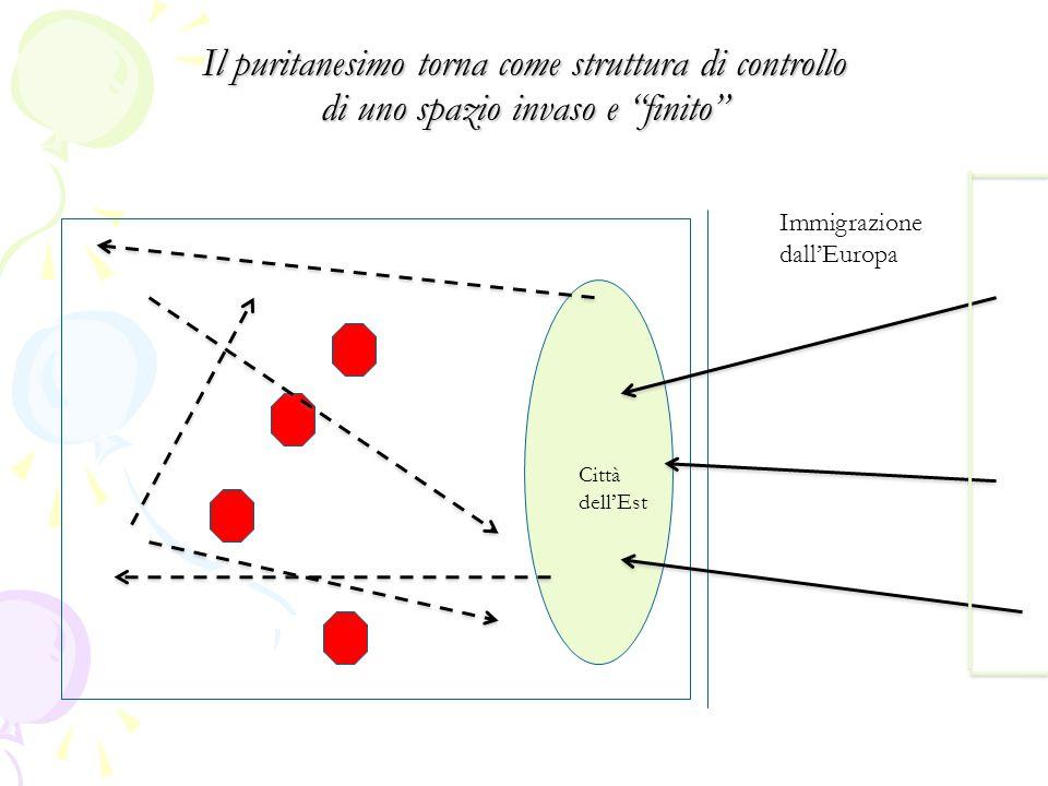 Il puritanesimo torna come struttura di controllo di uno spazio invaso e finito