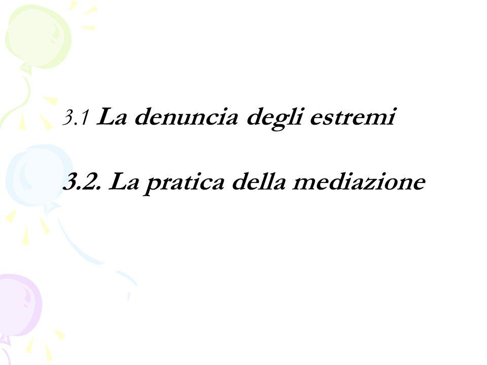 3.2. La pratica della mediazione