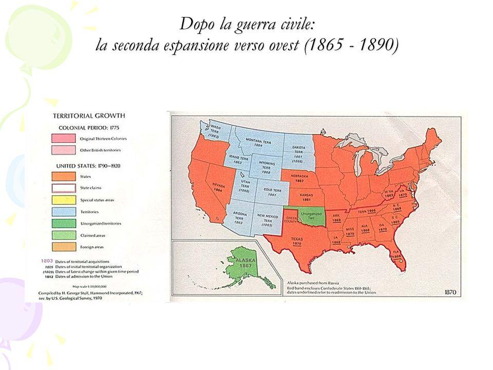 Dopo la guerra civile: la seconda espansione verso ovest (1865 - 1890)