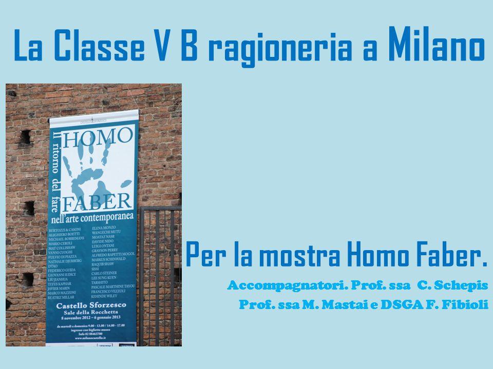 La Classe V B ragioneria a Milano