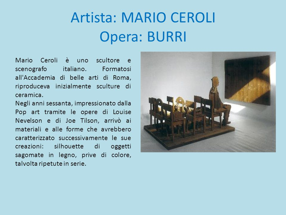 Artista: MARIO CEROLI Opera: BURRI