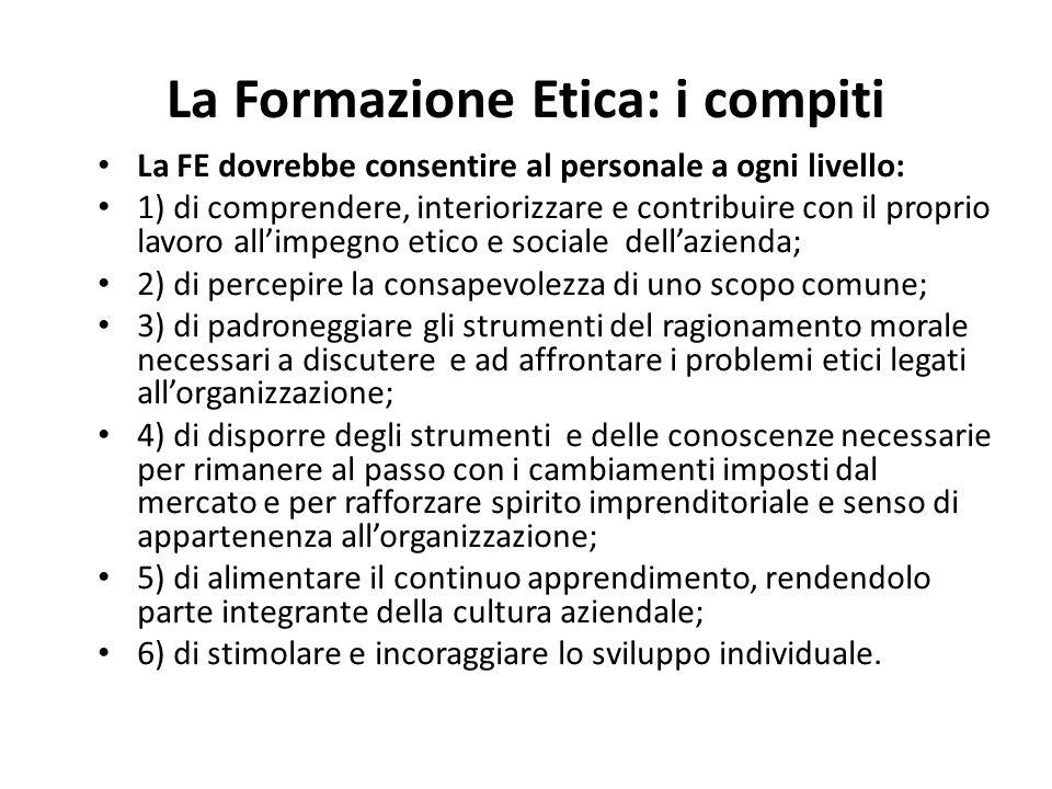 La Formazione Etica: i compiti