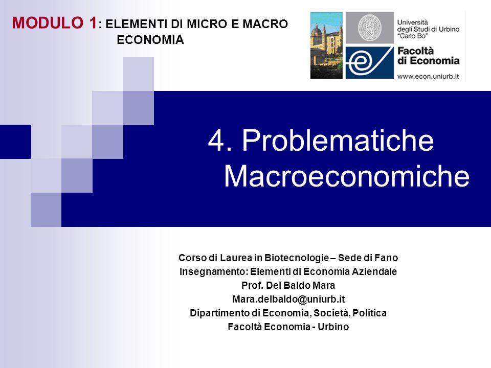 4. Problematiche Macroeconomiche