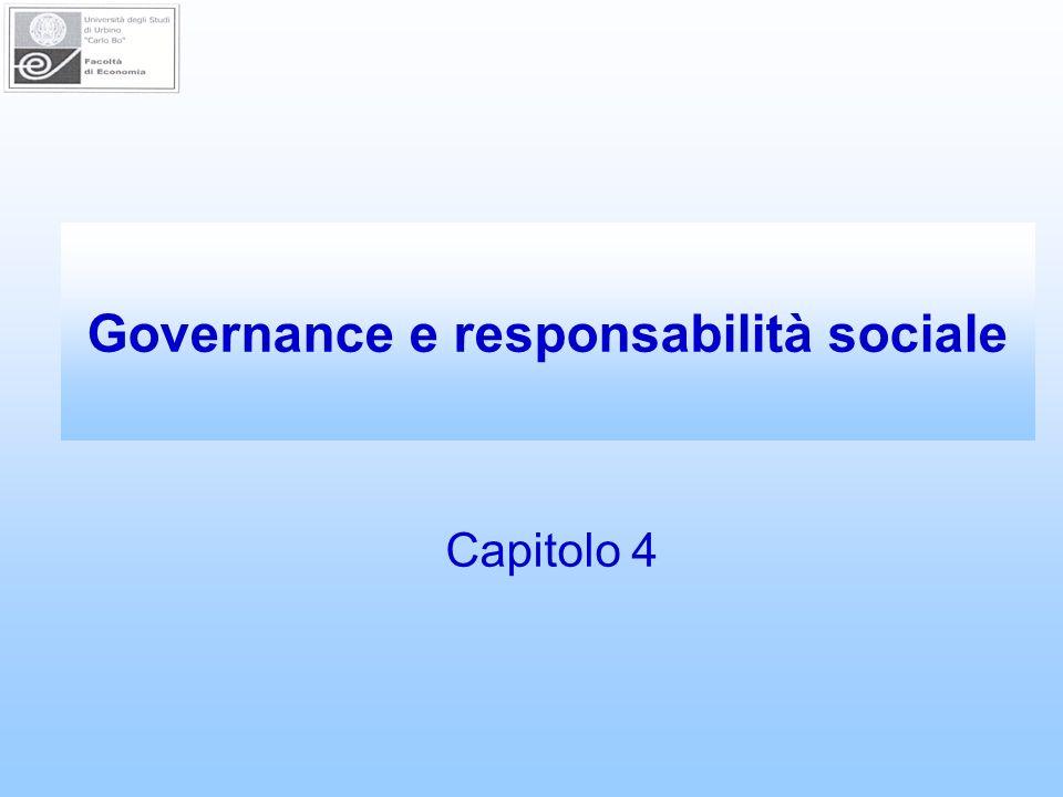 Governance e responsabilità sociale