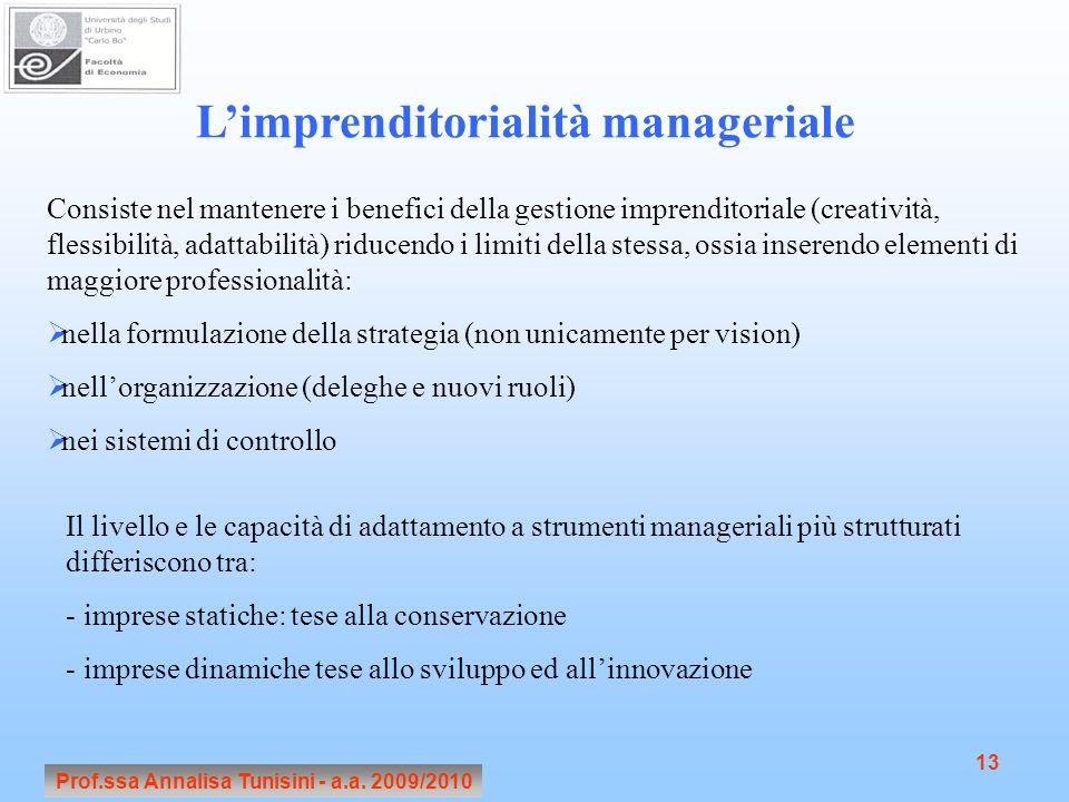 L'imprenditorialità manageriale