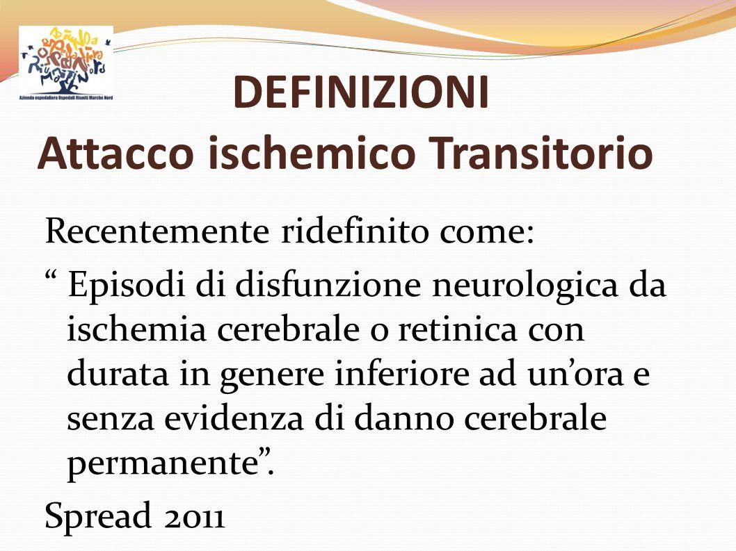 DEFINIZIONI Attacco ischemico Transitorio