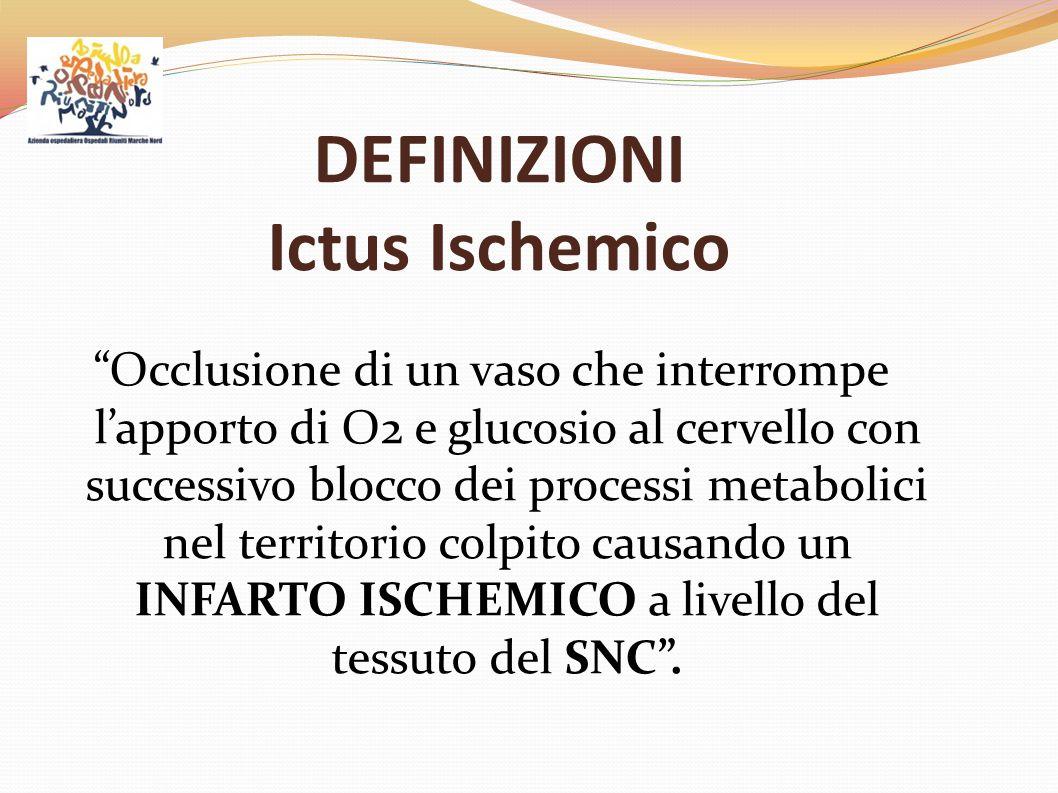 DEFINIZIONI Ictus Ischemico
