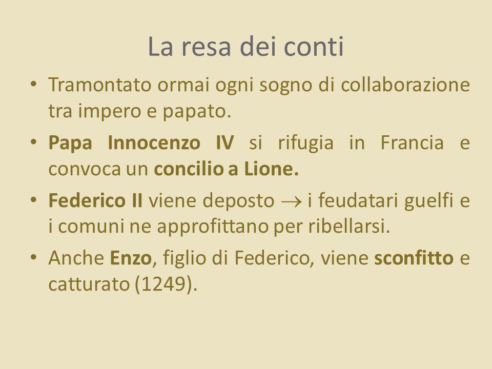 La resa dei conti Tramontato ormai ogni sogno di collaborazione tra impero e papato.