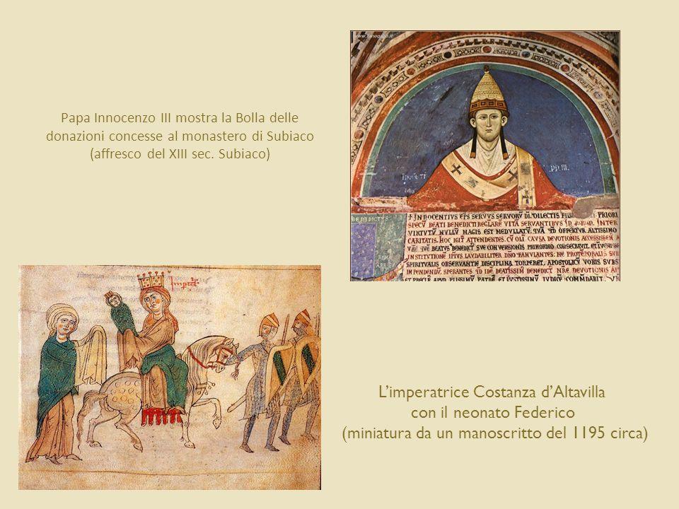 L'imperatrice Costanza d'Altavilla con il neonato Federico
