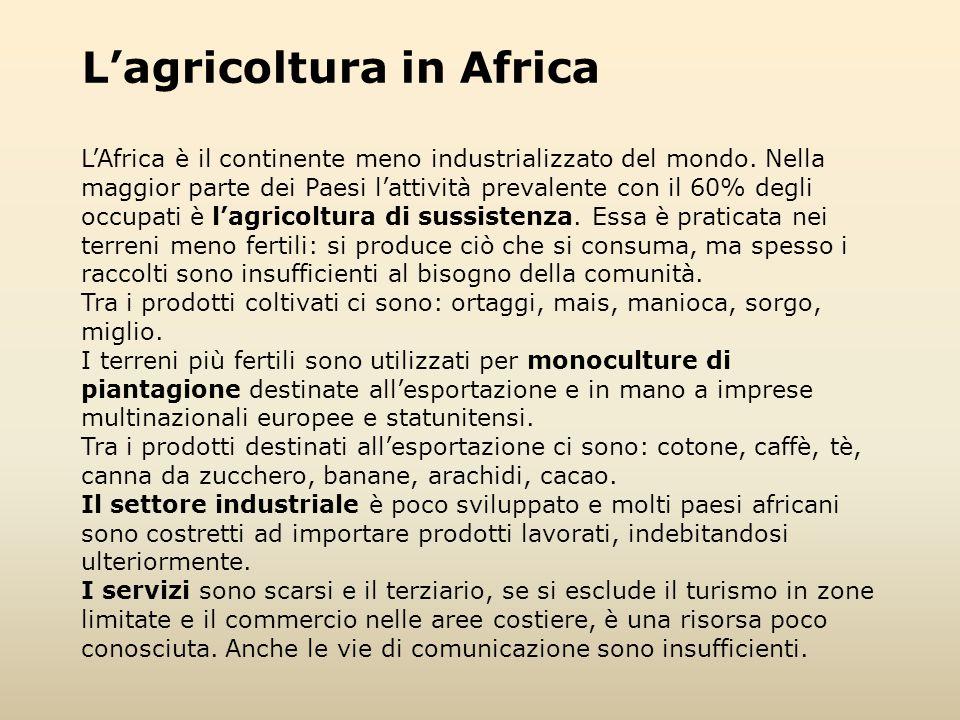 L'agricoltura in Africa