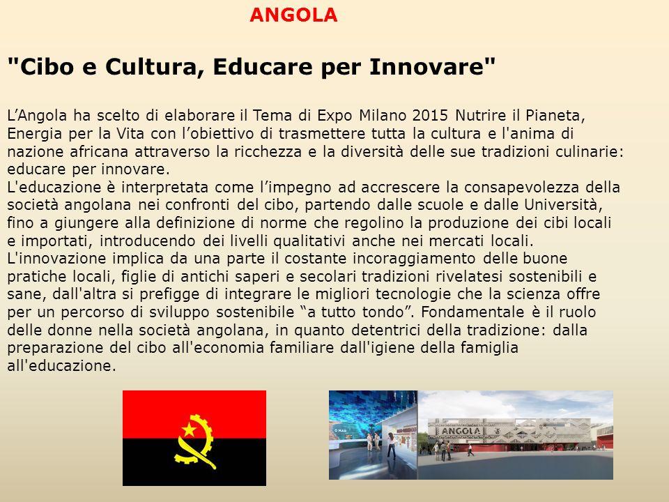 Cibo e Cultura, Educare per Innovare