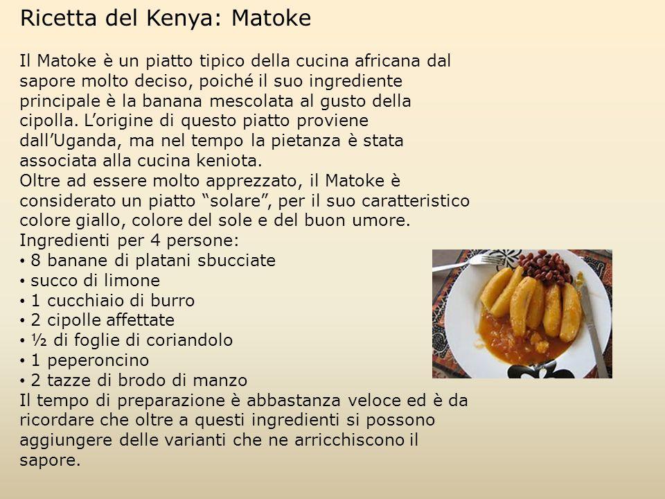 Ricetta del Kenya: Matoke