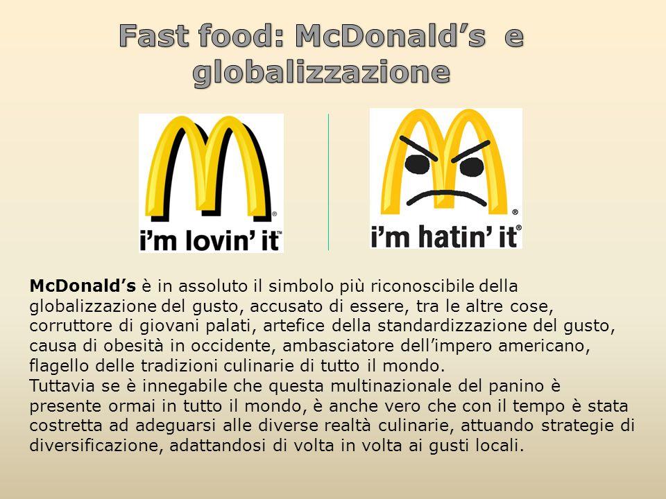 Fast food: McDonald's e globalizzazione