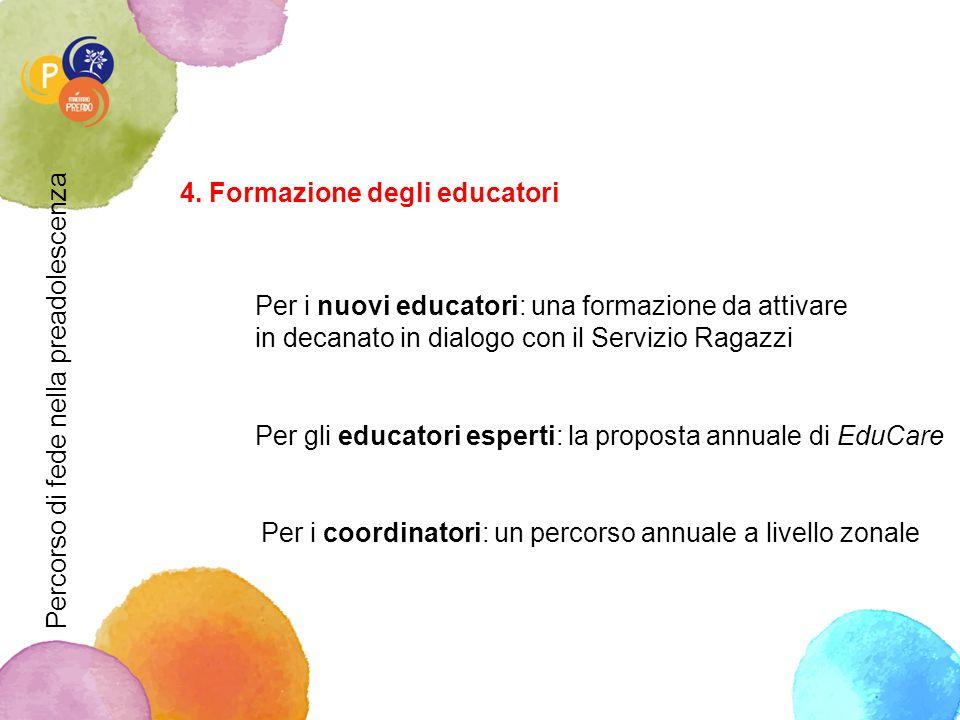 4. Formazione degli educatori