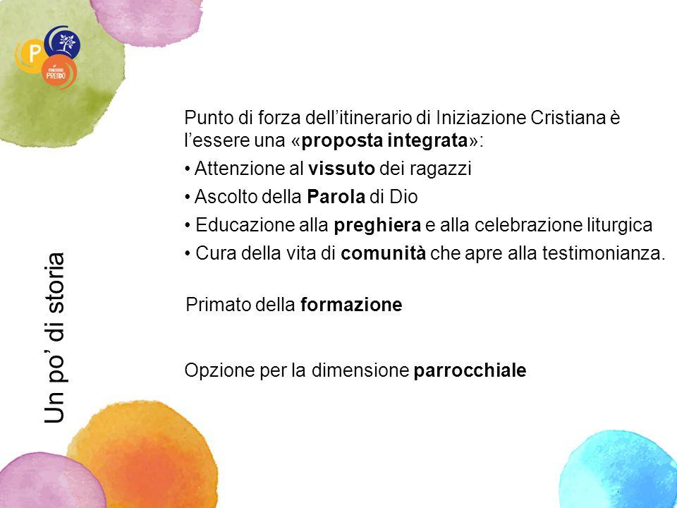 Punto di forza dell'itinerario di Iniziazione Cristiana è l'essere una «proposta integrata»: